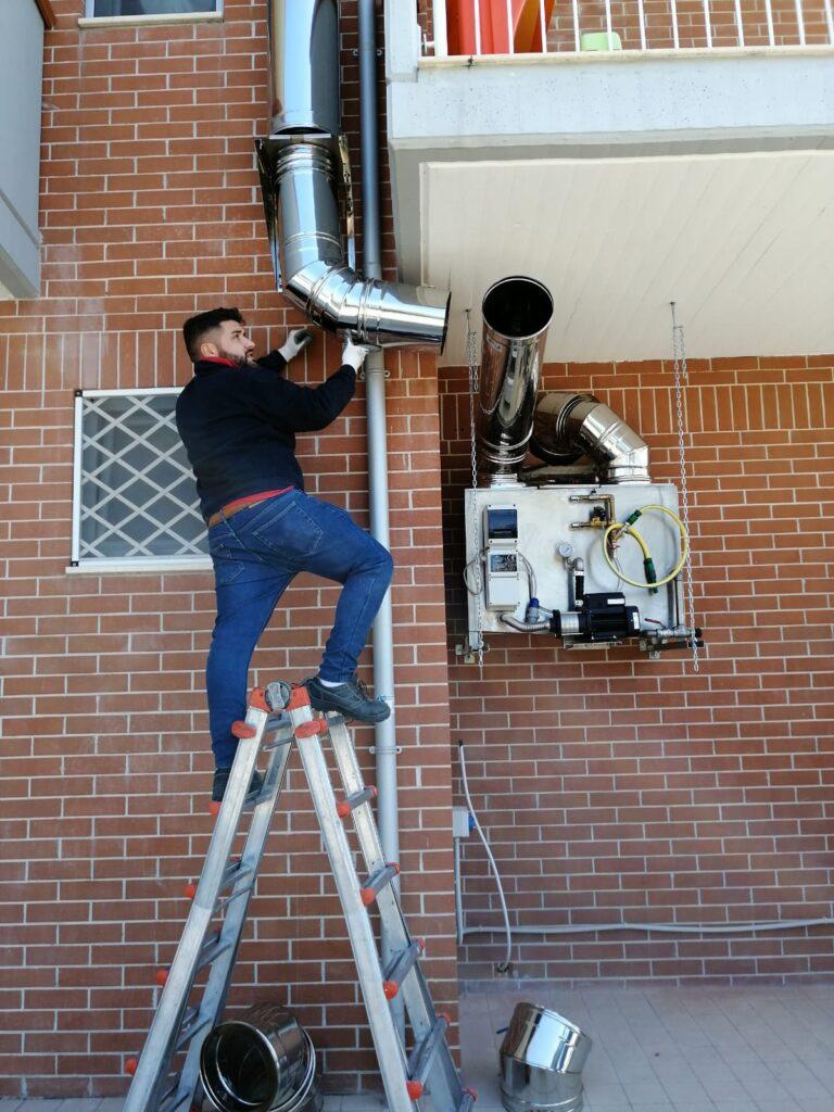Attacco installazione canna fumaria